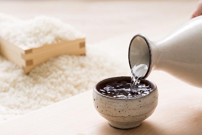 日本酒と米